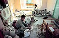 Cutting and grinding turquoise in Meshed, Iran. 1973.jpg