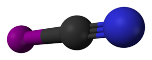 Cyanogen iodide - Image: Cyanogen iodide 3D balls