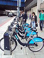 Cycle hire point, Southwark Street, London - DSC08158.JPG