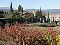 Cyprès de Florence et cerisiers en tenue d'automne décorent les abords du site des Capucins.jpg