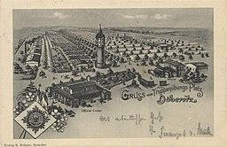 Döberitz, Brandenburg - Truppenübungsplatz, Wache; Nordtor; Offizierskasino (Zeno Ansichtskarten) R. Reimer, Spandau, Public domain, via Wikimedia Commons