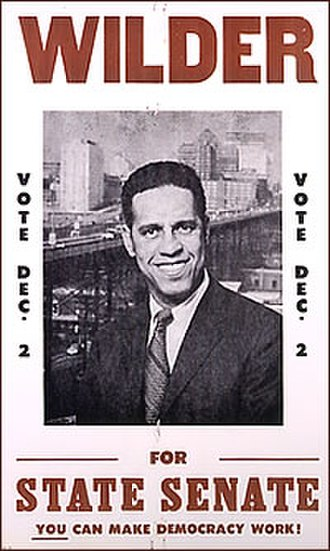 Douglas Wilder - Poster of Wilder campaigning for the State Senate in 1969