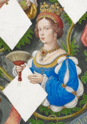 Joan of Portugal - Infanta Joana in Genealogia dos Reis de Portugal (António de Holanda; 1530-1534)