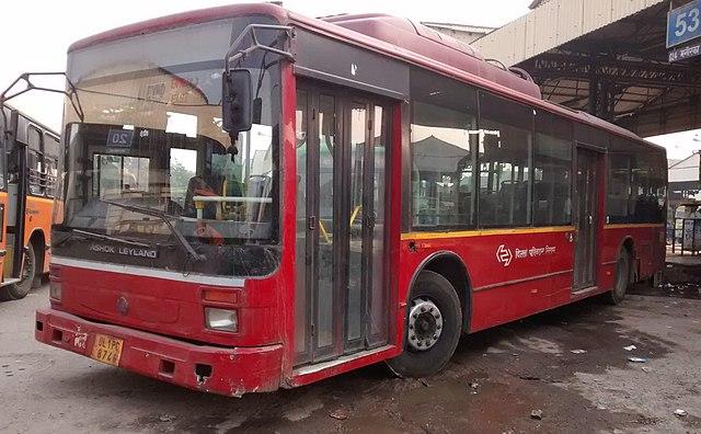 A DTC Ashok Leyland AC Bus.