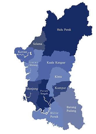 Perak Malay - Image: Daerahdiperak