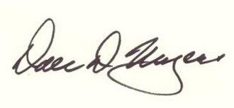 Dale D. Myers - Image: Dale Myers signature