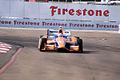 Dallara-Honda DW12 Ganassi-Novalog Racing Charlie Kimball Morning Practice Exiting Turn1 SPGP 24March2012 (14676685966).jpg