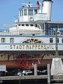 Dampfschiff Stadt Rapperswil - Reparatur - ZSG Werft Wollishofen 2015-07-21 15-06-16 (P7800).JPG