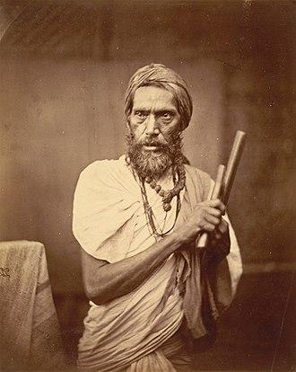 Dashanami Sampradaya - Dandi Sanyasi, a Hindu ascetic, in Eastern Bengal in the 1860s