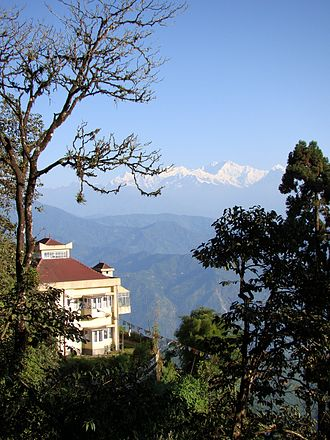 Observatory Hill, Darjeeling - View to Kangchenjunga from the eastern side of Observatory Hill