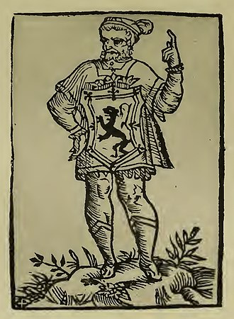 Lord Lyon King of Arms - Sir David Lindsay of the Mount was Lord Lyon from 1542–1554. A poet and diplomat during Renaissance Scotland.