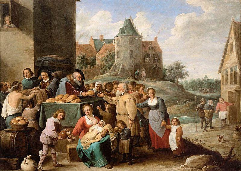 File:David Teniers (II) - The Works of Mercy - WGA22084.jpg