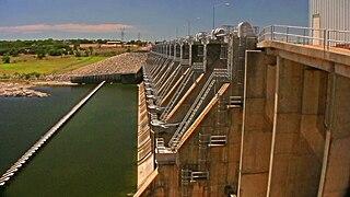 De Cordova Bend Dam dam in Hood County, Texas, United States of America