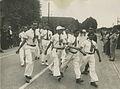 De Franse burgerdeelnemers onderweg op de eerste dag van de 25e Vierdaagse. – F40575 – KNBLO.jpg