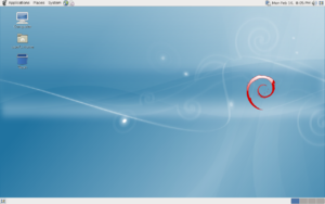 "Screenshot of Debian 5.0 (""Lenny"")"