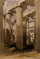 Decorated columns at Karnak, Egypt. Coloured lithograph by L Wellcome V0049349.jpg