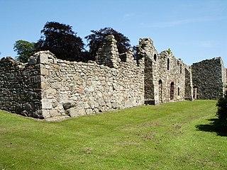 Deer Abbey ruins in Aberdeenshire, Scotland, UK