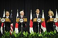 Defense.gov News Photo 110621-F-RG147-088 - Secretary of Defense Robert M. Gates and Secretary of State Hillary Rodham Clinton attend a press conference with Japanese Foreign Minister Takeaki.jpg