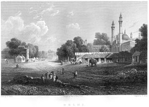 Robert Elliot (Royal Navy officer) - Engraving of Delhi, by William Miller, from an original sketch by Elliot.