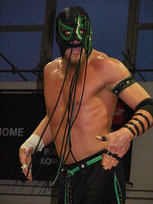 Under the Hood - Delirious, whose storyline rivalry with UltraMantis Black was one of the focal points of Chikara's season eleven