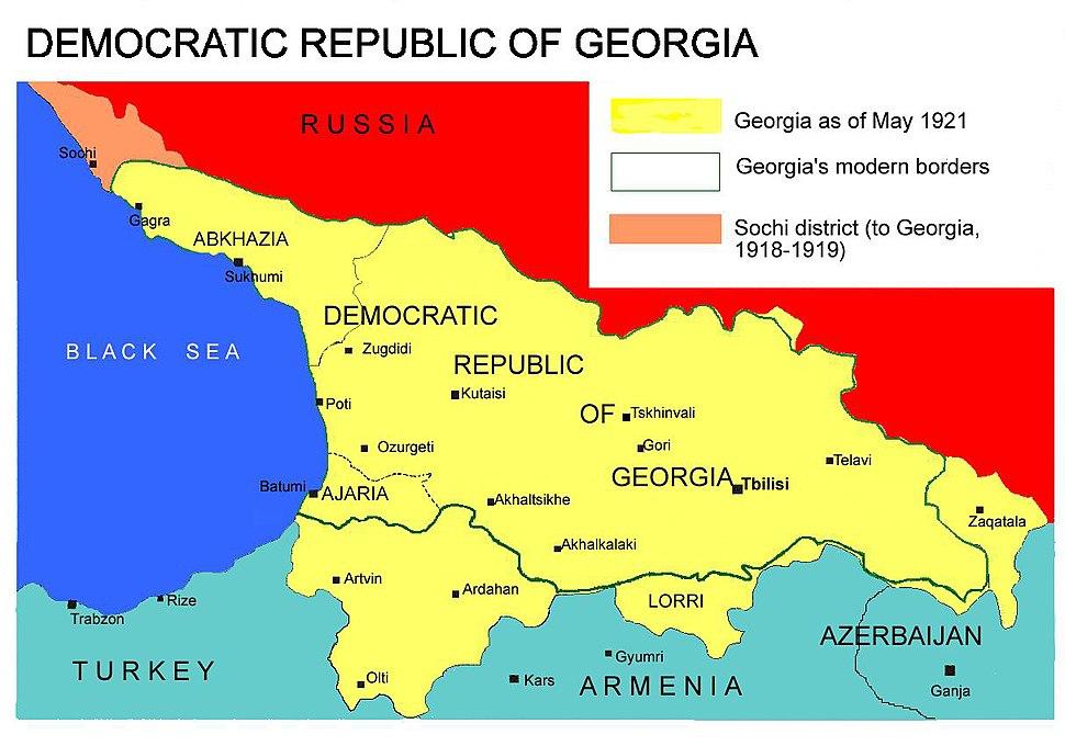 Democratic Republic of Georgia map
