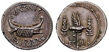 Denarius Mark Anthony-32BC-legIII