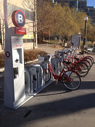 B-cycle - A 15 dock, solar powered station in Denver