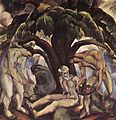 Derkovits, Gyula - Below a Big Tree (1922).jpg