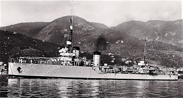 Pantera was one of the destroyers based at Massawa destroyed when the Allies captured Italy's east African colonies. Destroyer Pantera.JPG