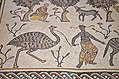 Detail of the 6th century AD mosaic in the Diakonikon Baptistry of the Moses Memorial Church depicting a hunting and herding scene interspersed with various animals, Mount Nebo, Jordan (39965325324).jpg