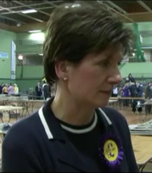 Eastleigh by-election, 2013 - Image: Diane James at Eastleigh