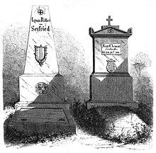Das Grab von Clement 1859 (rechts). (Quelle: Wikimedia)