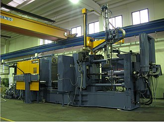 Die casting - Image: Diecasting machine cold chamber