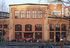 Sickla Köpkvarter - Dieselverkstaden—Old factory turned into civic center