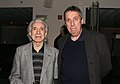 Directors Arthur Hiller and Ivan Reitman attend The Canadian Film Centre cocktail reception 2011.jpg
