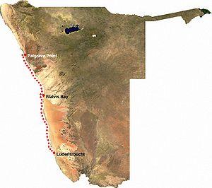 Thiomargarita namibiensis - Distribution of Thiomargarita namibiensis