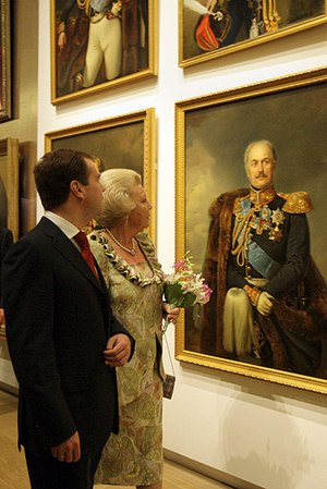 Hermitage Amsterdam - Russian President Dmitry Medvedev and Queen Beatrix at the official opening of Hermitage Amsterdam on 20 June 2009