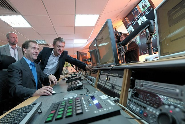 Dmitry Medvedev took part in the launch of Russia Today Documentary