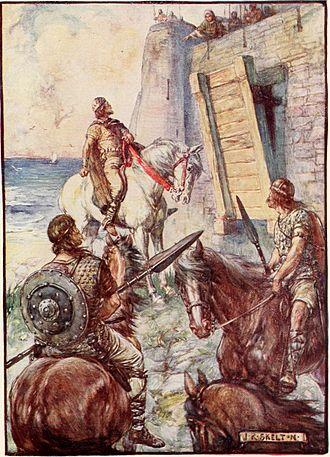 Macbeth, King of Scotland - Macbeth at the fort of Macduff