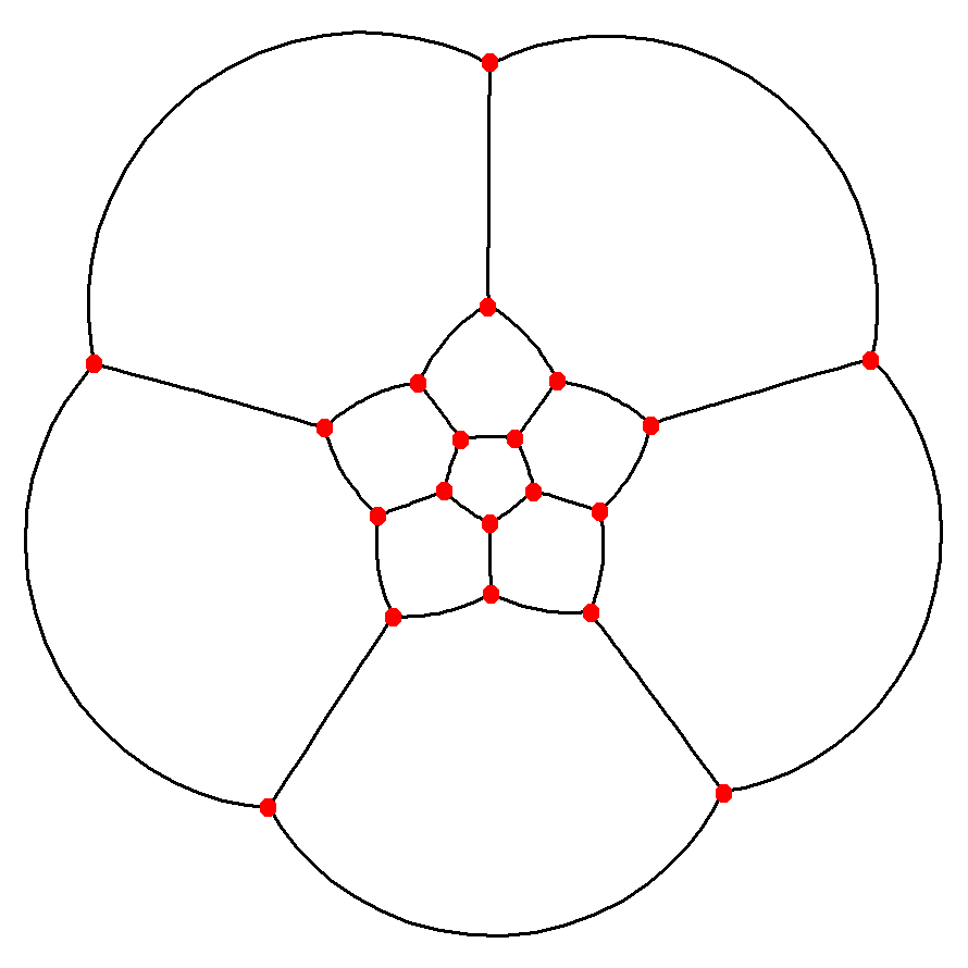 Dodecahedron stereographic projection