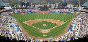 Panorama of Dodger Stadium in Los Angeles (tak...