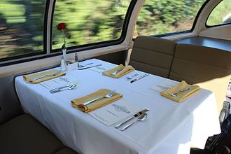 Hoosier State (train) - During the Iowa Pacific era, the Hoosier State is the only short-haul Amtrak train featuring full dining service; business class patrons dine in a vintage dome car