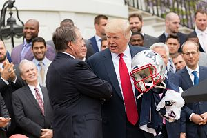 U.S. national anthem protests (2016–present) - President Trump and the New England Patriots, April 19, 2017