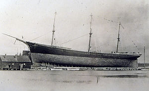 Down Easter (ship) - Launch of the Down Easter ship, 1884