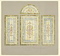 Drawing, Design for Stained Glass Windows- Chamber Music Hall - Back of Stage, Carnegie Hall, New York, NY, late 19th century (CH 18733231).jpg