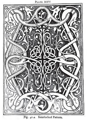 English: knot design by Charles Godfrey Leland