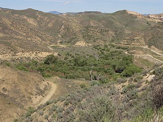 Dry Canyon Reservoir - View from the west.