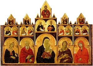 Madonna and Child with saints polyptych (Duccio) - Madonna and Child with saints, Duccio