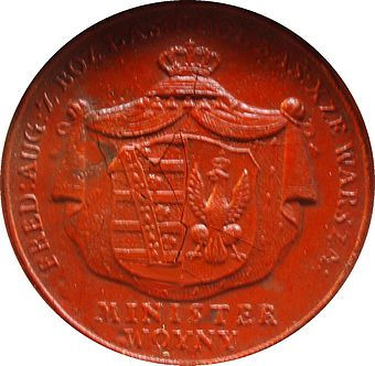 Seal of Poniatowski as Minister of War of the Duchy of Warsaw Duchy of Warsaw seal.JPG