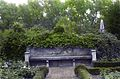 Dumbarton – (colored trees and ivy with b&w bench), 1938 (5242678314).jpg